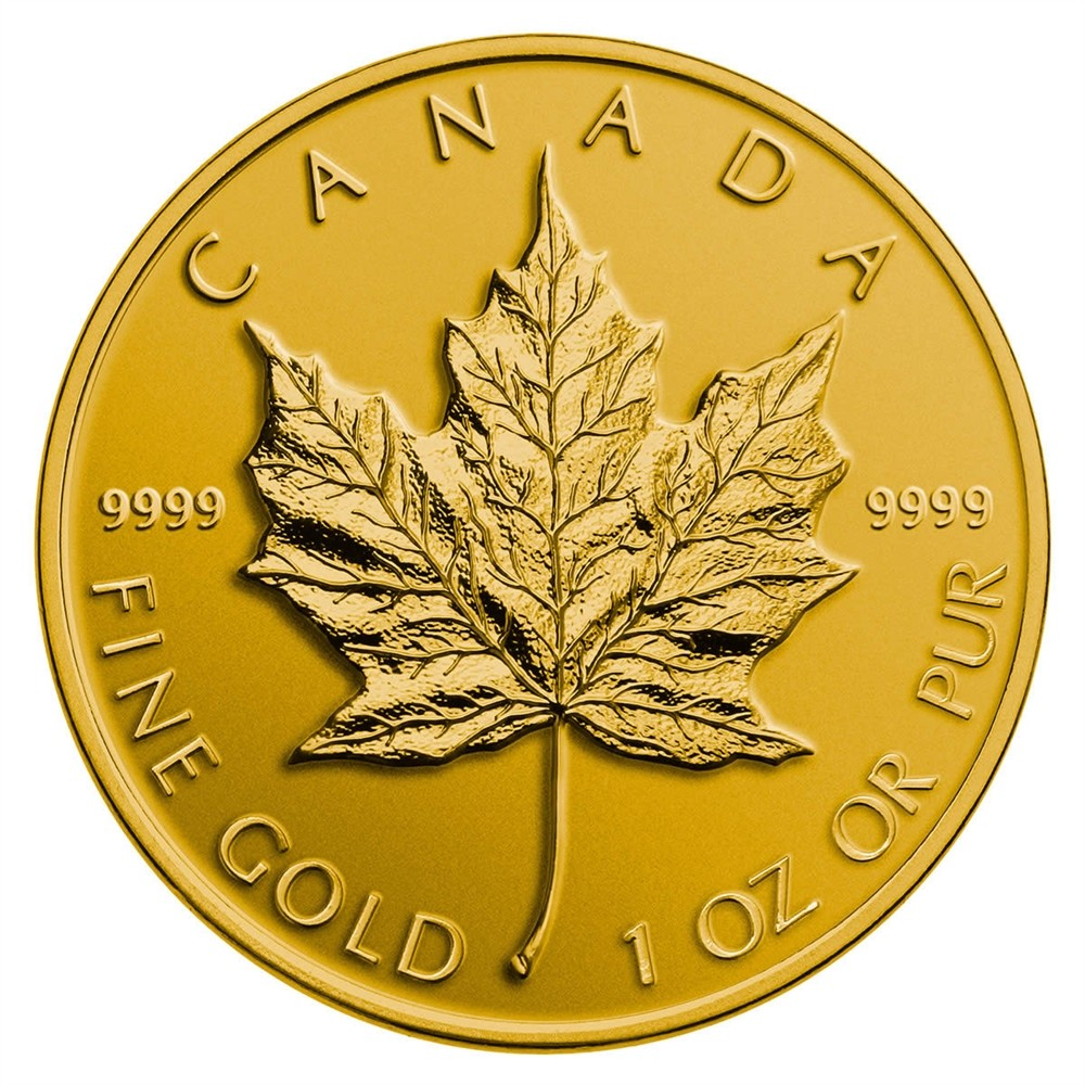 1 Oz Gold Canadian Maple Leaf 9999 Fine Gold