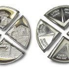 1-troy oz Divisible Gold Panner .999 fine Silver Bullion Rounds