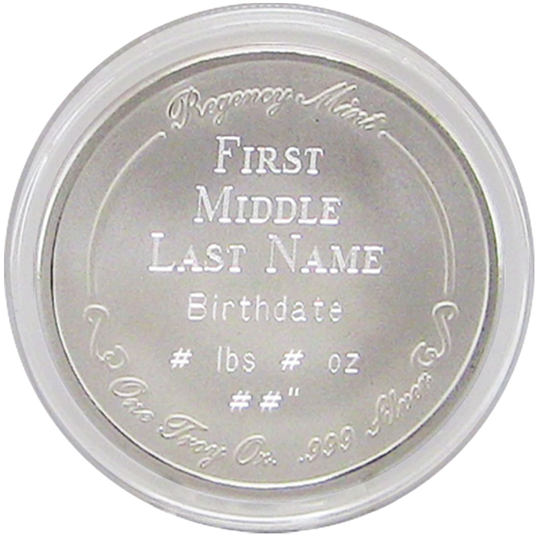 Silver Coin For New Baby Personalized Baby Coin 999 Silver