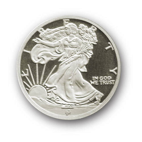1 10 Oz Silver Rounds Ira Approved Walking Liberty 999