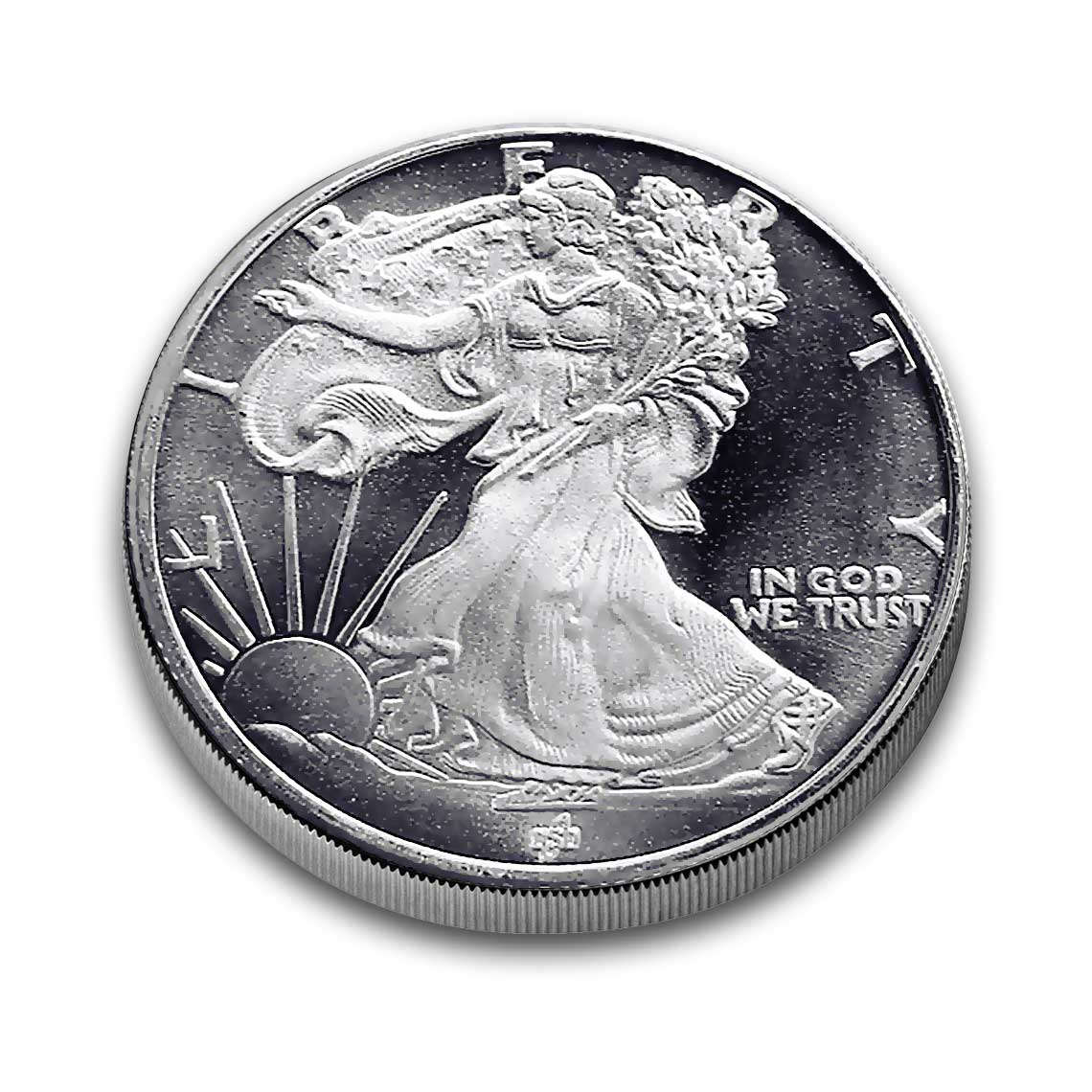 1 2 Oz Silver Rounds Half Walking Liberty 999 Silver