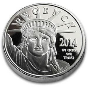 2014 Statue of Liberty 1-oz Silver Bullion Rounds - Double Die Obverse