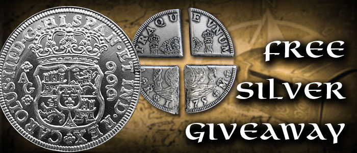 Free Silver Giveaway Pillar Dollar Rounds