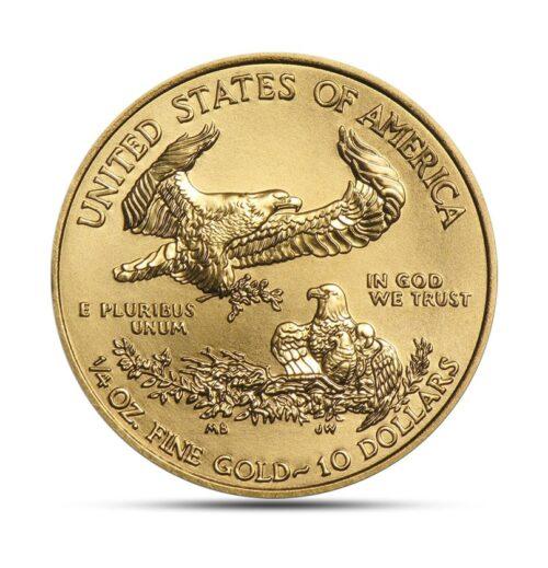 1/4 ounce gold coin - American Eagle reverse