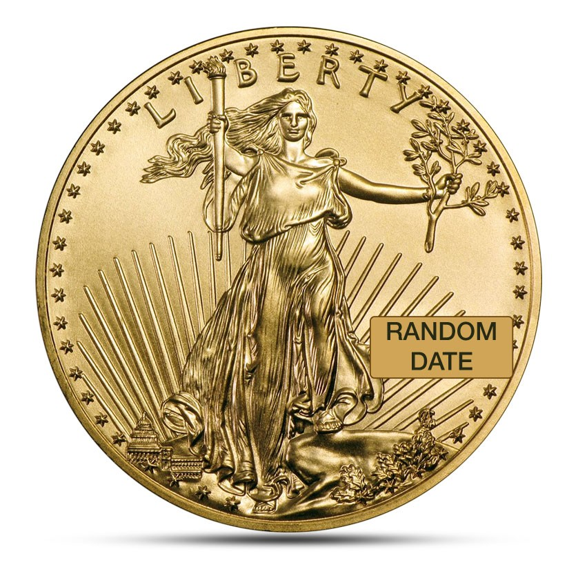 American Eagle 1/2 ounce gold coin obverse