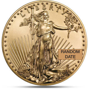 1 oz Gold American Eagle Coin obverse