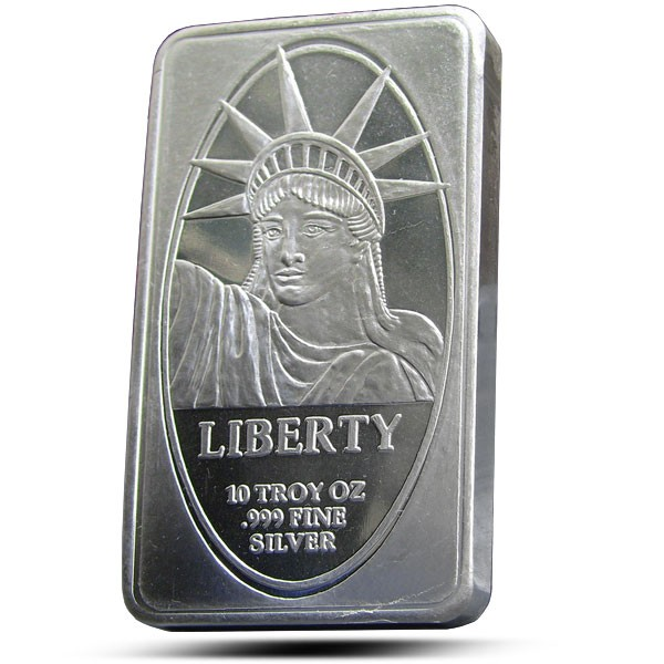 999 Fine Silver 10 Oz Bar Ira Approved Liberty Silver Bar