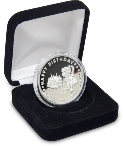 Birthday GIRL Personalized Gift Coins - 1-troy oz .999 fine silver