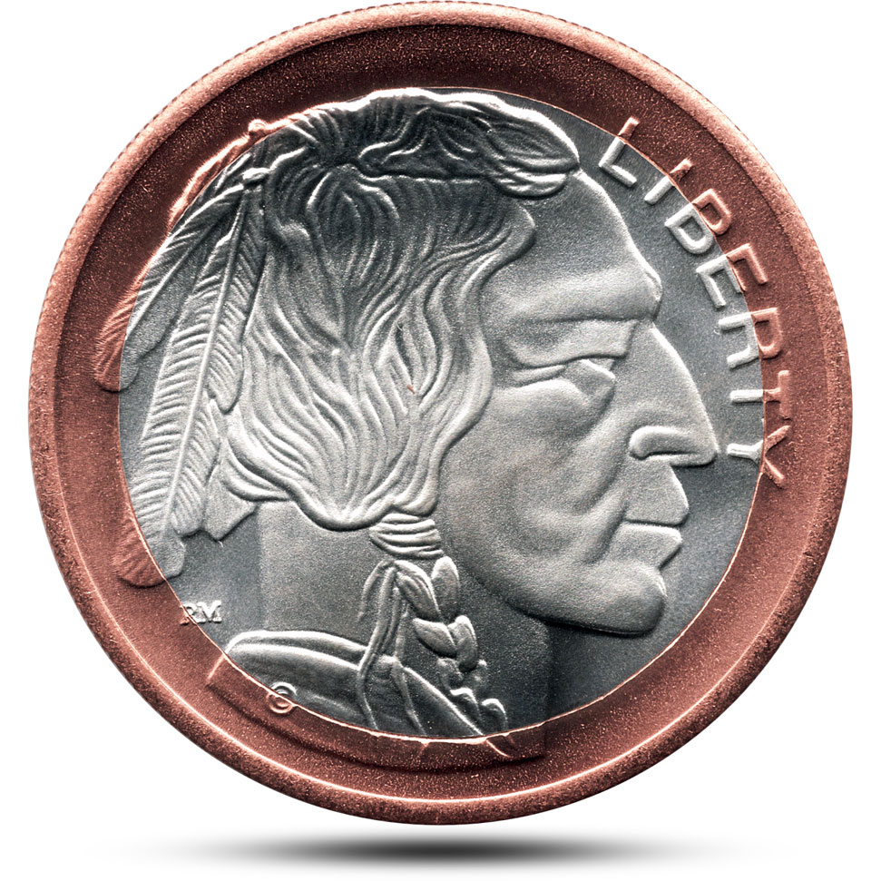 Bimetallic Copper Silver Buffalo Obverse
