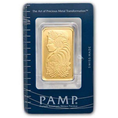 PAMP Suisse Gold Bar 1 oz obverse