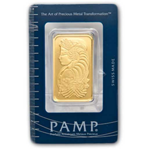 PAMP Suisse Gold Bar 1 oz obverse