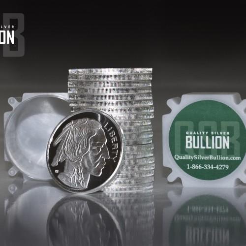 1-troy oz Buffalo/Indian head .999 fine Silver Bullion Rounds