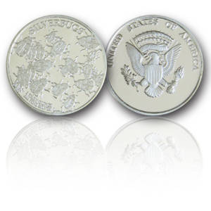 1-troy oz Silverbugs .999+ fine Silver Bullion Rounds