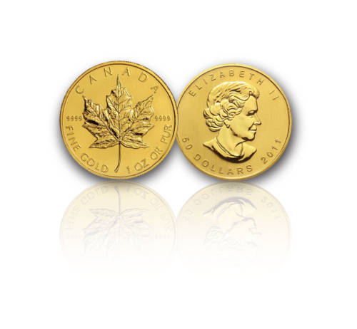 1-oz Gold Canadian Maple Leaf - .9999 fine Gold