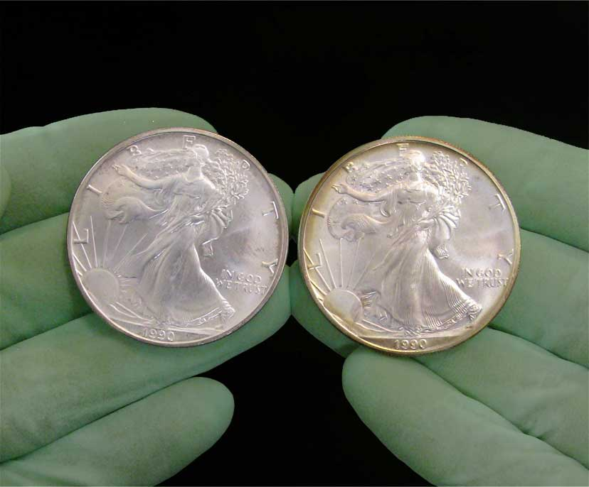 Perfect American Silver Eagle Dollars   (Circulated Coins)