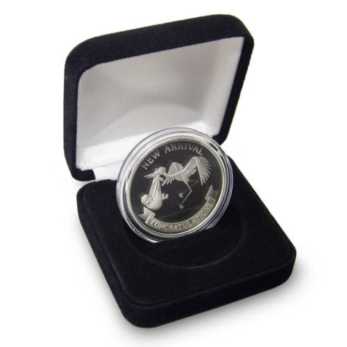 New Arrival Personalized Baby Coins - 1-troy oz .999 fine silver
