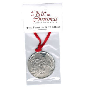 Mary & Joseph at the Inn - Pewter Ornament