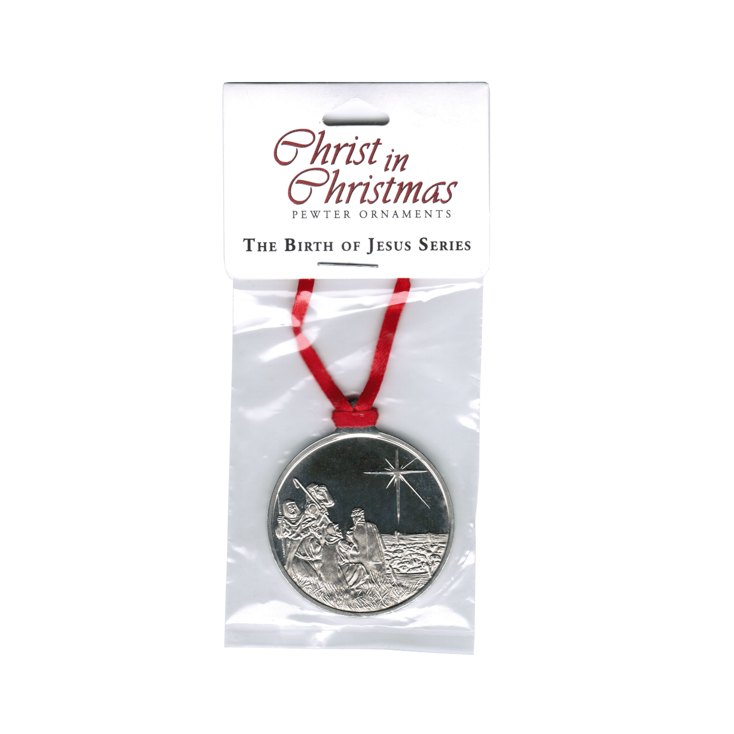 Shepherds receive Heavenly message - Pewter Ornament