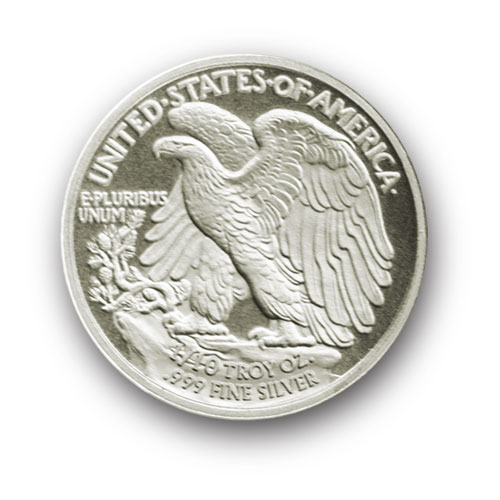 1/10-troy oz. (TENTH) Walking Liberty .999 fine Silver Bullion rounds
