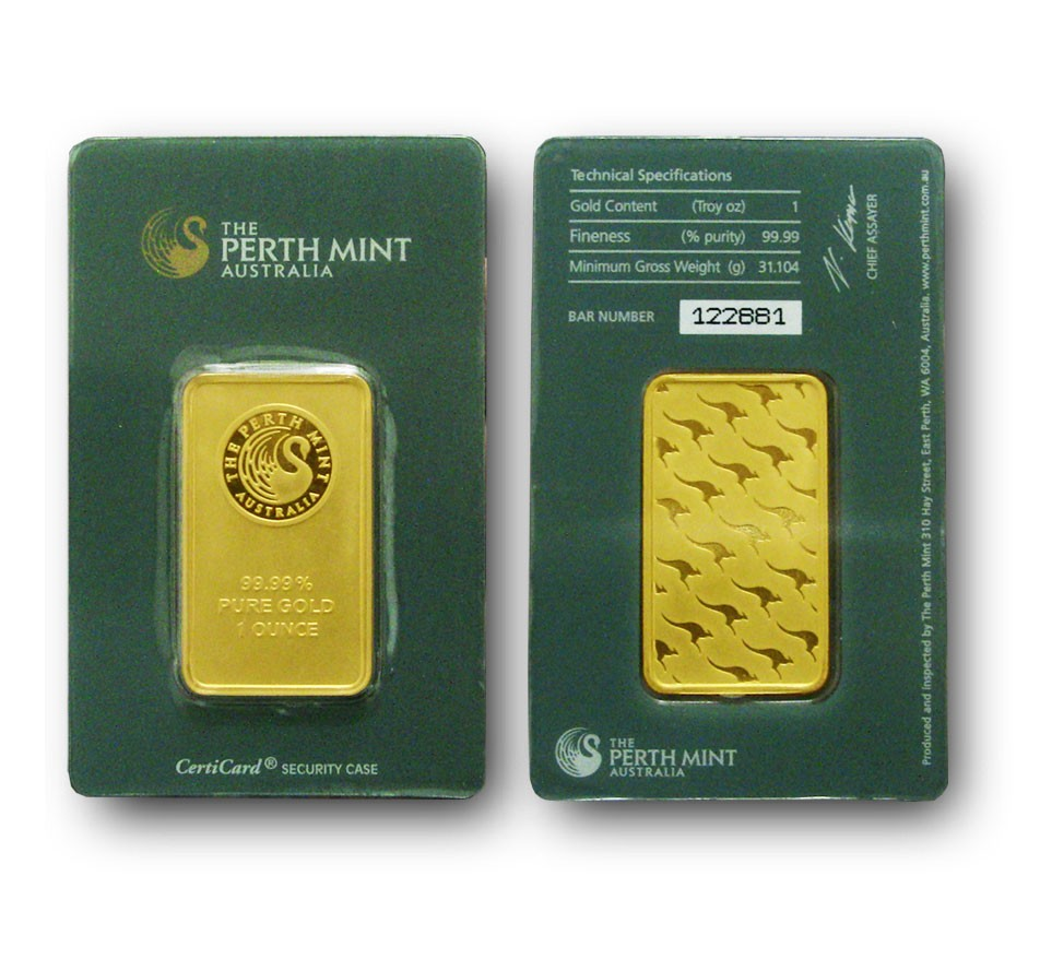 1 oz Perth Mint gold bar