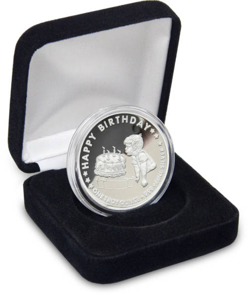 Birthday Coin - Birthday BOY Personalized Gift Coins - 1-troy oz .999 fine silver