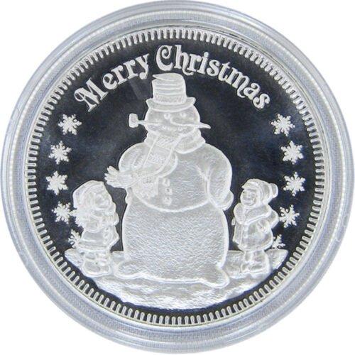 Christmas Coins Snowman