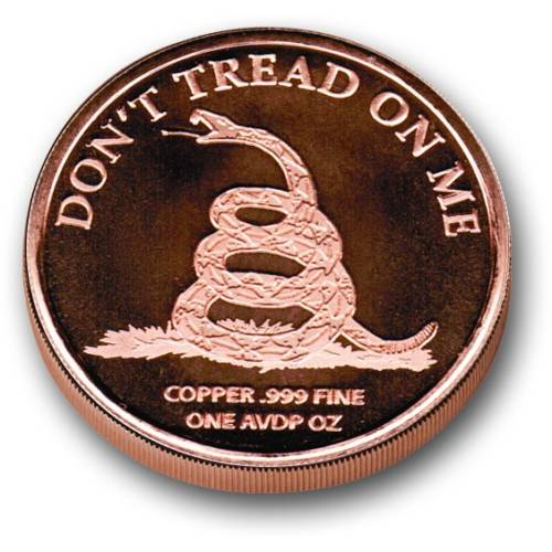 Patriot Second Amendment Medallion - 1 AVDP oz COPPER Bullion round
