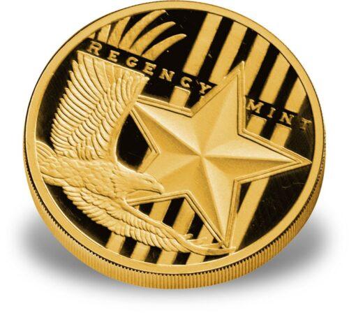 1-oz Gold Rounds - .9999 fine Regency Mint Gold Eagle