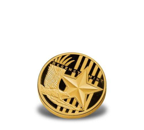 1/10-oz .9999 fine Regency Mint Fractional Gold Bullion Rounds