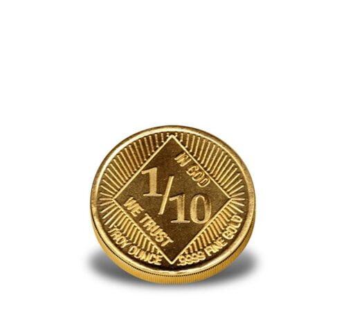 1/10-oz .9999 fine Regency Mint Gold Eagle - Fractional Gold Rounds