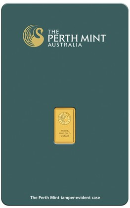 Perth Mint 1 Gram Gold Bar - .9999 Fractional Gold Bars