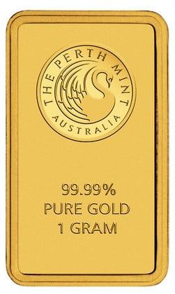 Perth Mint 1 Gram Gold Bar - .9999 Fractional Gold Bars