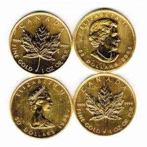 Impaired 1-oz Gold Canadian Maple Leaf - .9999 fine Gold