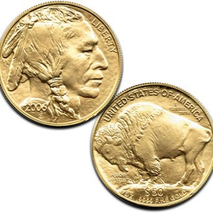 Impaired 1-oz Gold Buffalo Coin - .9999 fine Gold