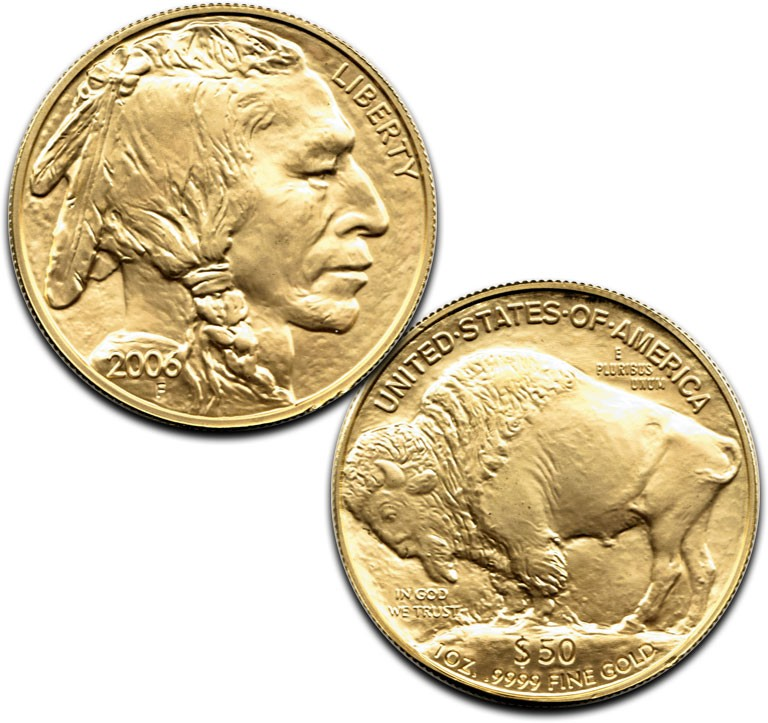 Impaired 1 Oz Gold Buffalo Coin 9999 Fine Gold