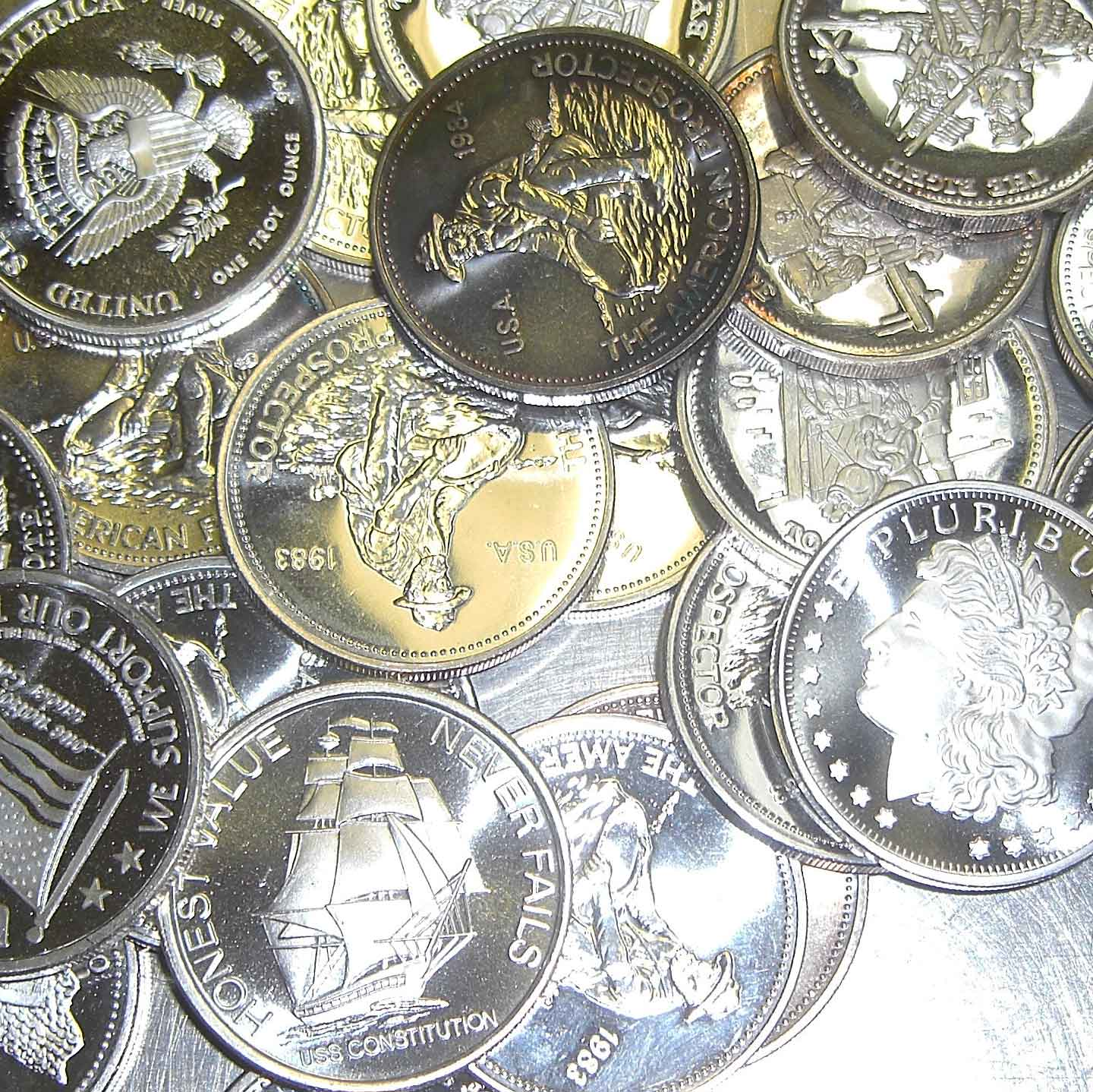 1-troy ounce .999 Silver Bullion Rounds | Secondary, Circulated, and Extra Inventory