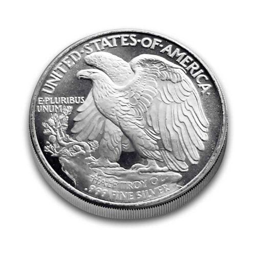 1/2-troy oz (HALF) Walking Liberty .999 fine Silver Bullion rounds