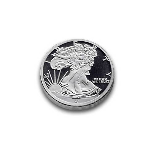 1/10 oz silver round - Walking Liberty obverse