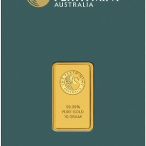Perth Mint 10 Gram Gold Bar - .9999 fine Gold Bar