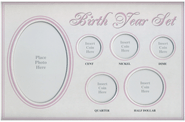 Birth Year Coin Set Frame - Baby Girl