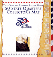 Official US Mint State Quarter Map