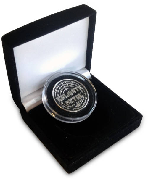 1 oz. Salivate Metal Thick .999 Silver Rounds - Proof-Like