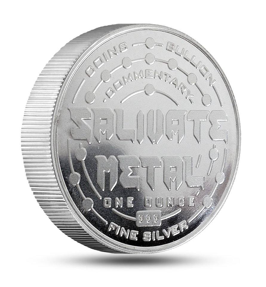 1 Oz Salivate Metal Thick 999 Silver Rounds Bullion Grade