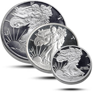 1-2_1-4_1-10_silver-rounds-set