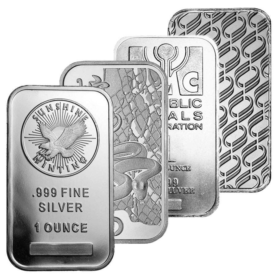 1 Oz Silver Bar Various Designs 999 Fine Silver Bullion