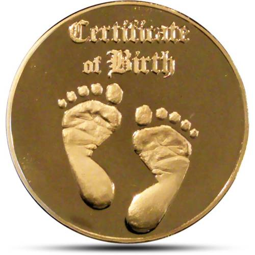 Personalized Baby Coin Birth Certificate