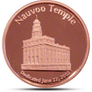 Nauvoo Temple Copper Obv