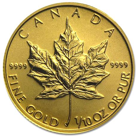 1/10 oz  Canada Gold Maple Leaf