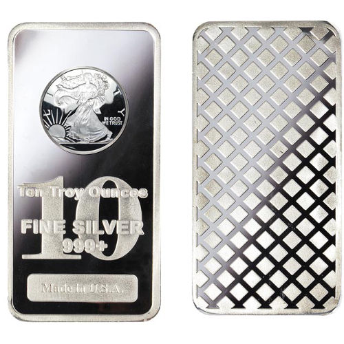Silver Bullion Bars For Sale 10 Oz Amp 1 Oz Silver Bars