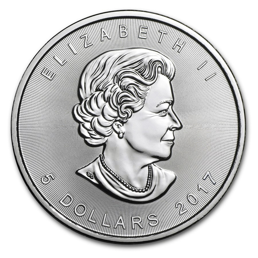 2017 silver Maple coin obverse